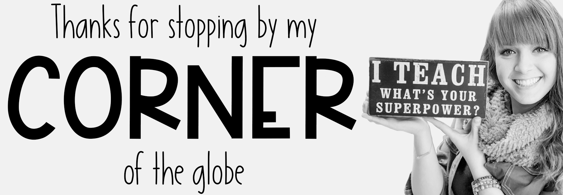 Designing logos for teachers. An example of a teacher's photo in a banner.