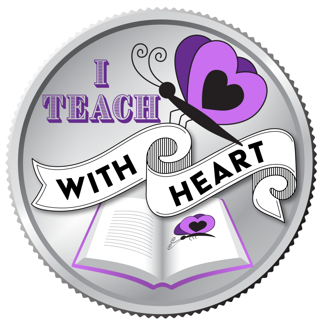 Clarity in typography example. I Teach With Heart logo