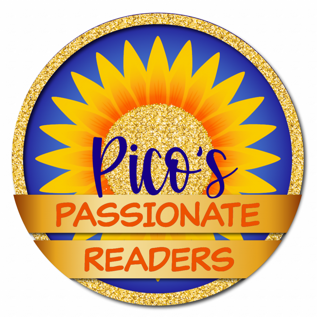 Clarity in typography example. Pico's Passionate Readers logo