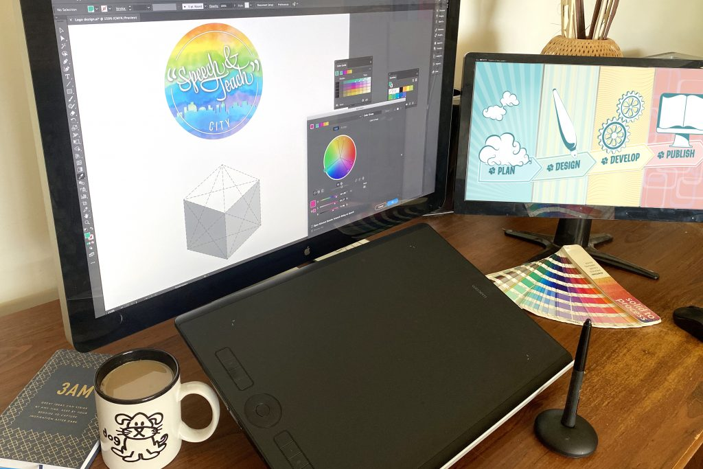 Designing logos for teachers blog article decorative photograph